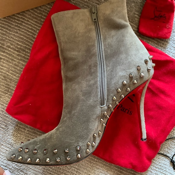 aabbf67d3ce Christian Louboutin spiked bootie
